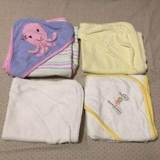 Preloved receiving blankets & hooded towel