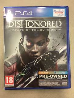 Playstation 4 Dishonored: Death Of The Outsider (Used)