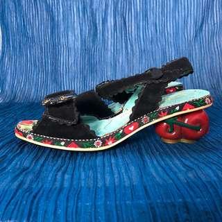 Irregular Choices Cherry Cat Heel Sandal