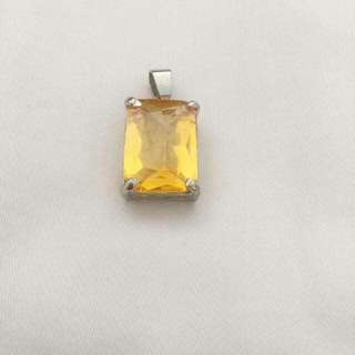 Yellow crystal pendant  招财黄水晶
