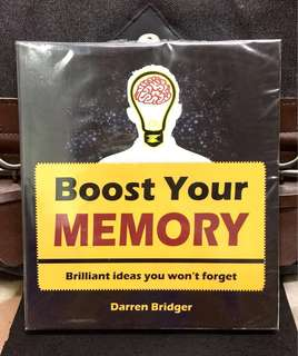 《New Book Condition + How To Improve Memory》Darren Bridger - BOOST YOUR MEMORY