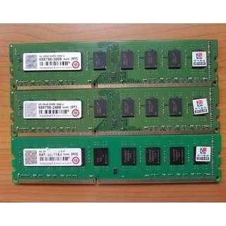 創見 Transcend 8GB DDR3 -1600 雙面顆粒 、終身保固 、測試良好的庫存備品【單支價 $1580】