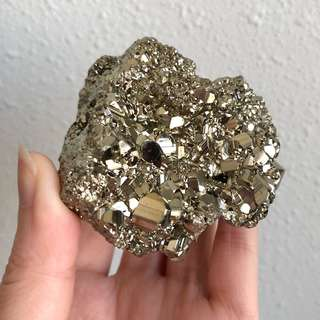 Golden Iron Pyrite Large Cluster #A
