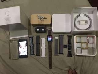 Apple Watch Stainless Steel edition series 1 42mm with iPhone 5 16gb and other Freebies