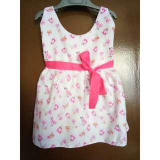 Flowery Pink-White Little Dress