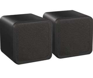 (183) E-Audio High Quality 4-Inch Dual Cone Full Range Mini Box Speaker (B406A)