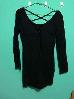 🚚 黑色合身洋裝