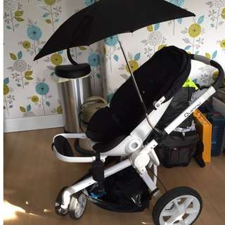 Quinny Moodd Black Irony Complete Travel System