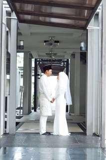 WHITE NIKAH attire to RENT.