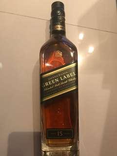 Johnnie Walker 約翰走路 蘇格蘭 威士忌 Green label whisky