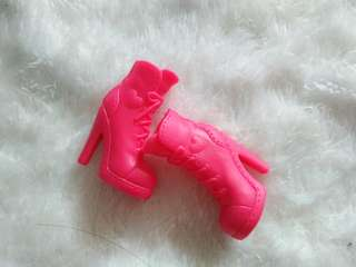 Orig sexy boots for barbie(hot pink)