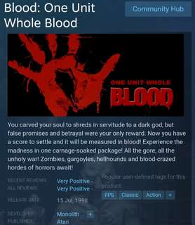 [Clearance Sale] Steam Blood: One Unit Whole Blood Game