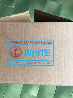 White C4 Envelopes for A4 Document