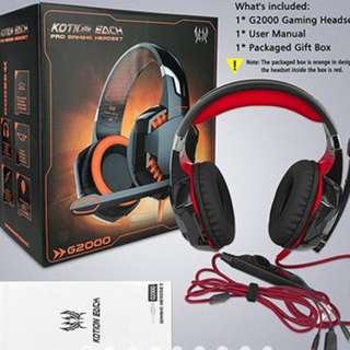 EACH G2000 Gaming Headset head phone stereo Game headphone Computer Headsets