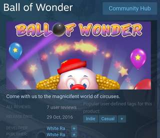 [Clearance Sale] Steam Ball of Wonder Game