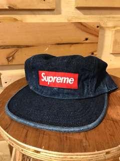 Supreme Denim Camp Cap Black