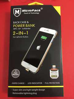 MicroPack Back Case & Power Bank for iPhone 6+