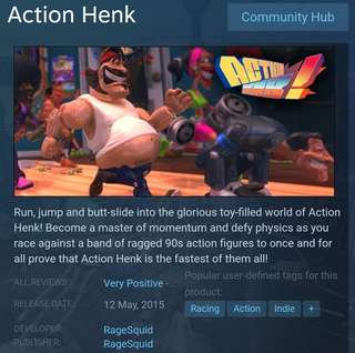 [Clearance Sale] Steam Action Henk Game