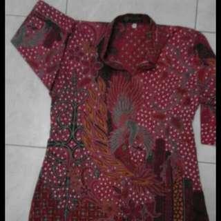 Blouse Batik Maroon