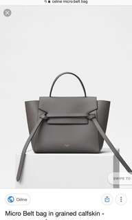 Celine mirco belt bag(gray)