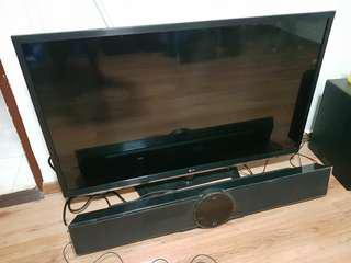 47' 3D lcd tv & Blue ray, Dvd sound bar subwoofer system