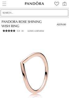 Pandora Rose Shining Wish Ring Size 48
