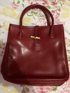 longchamp roseau leather