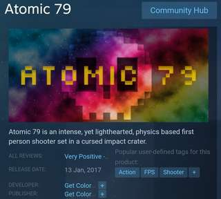 [Clearance Sales] Steam Atomic 79 Game