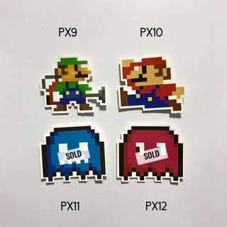 [NEW] Pixelated Luggage Stickers / Laptop Stickers