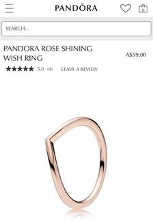 Pandora Rose Shining Wish Ring Size 48