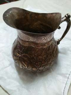 Antique Vintage Collectible Brass Pitcher
