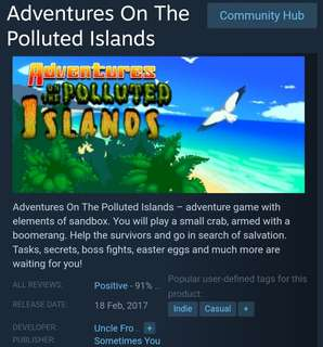 [Clearance Sale] Adventures on The Polluted Islands