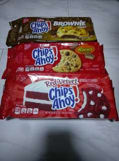 Instock! Chips ahoy import soft cookie red velvet, brownie, reese