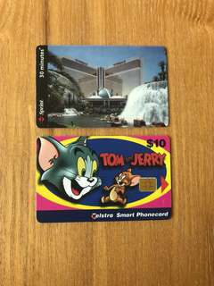 US phone cards (Tom & Jerry, Mirage, local postage included)