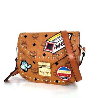 MCM Patricia Shoulder Bag in Victory Patch