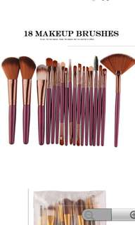 18pcs brush set