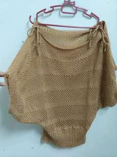Brown See Through Knitwear #july70
