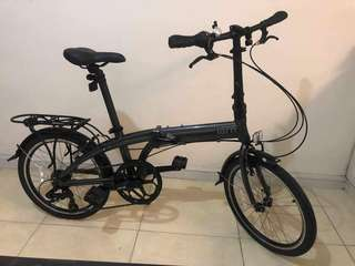 Tern Link A7 folding bike with accessories and freebies (gray)