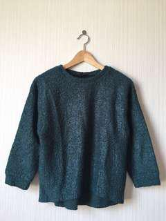 TOPSHOP GREEN WOOL SWEATER
