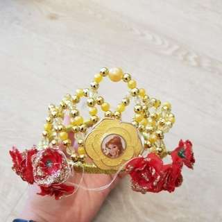 50% OFF ALMOST NEW!! Belle Tiara purchased from LA Disneyland