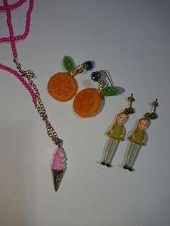 les nereides N2 童趣 水果 雪糕 頸鍊 頸鏈 耳環 necklace earrings