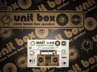 Unit box retro boom box speaker