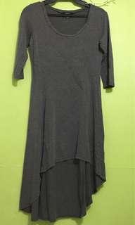 FOREVER 21 Gray Long Back Dress