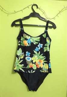 One Piece Swim Suit Floral