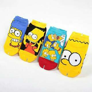 The Simpsons Socks (Buy 4 for only 300.00)