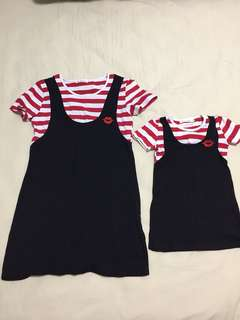 Mommy & daughter strip dress