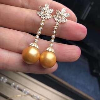天然珍珠耳環純銀