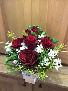 Fresh flower arrangement for church, wedding hall