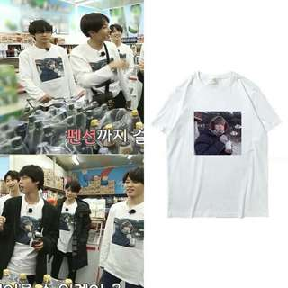 "(PO) BTS V/Taehyung ""cold meals"" t-shirt/long sleeve top 