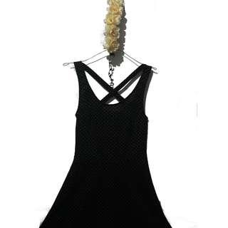 H&M crossback polkadot dress